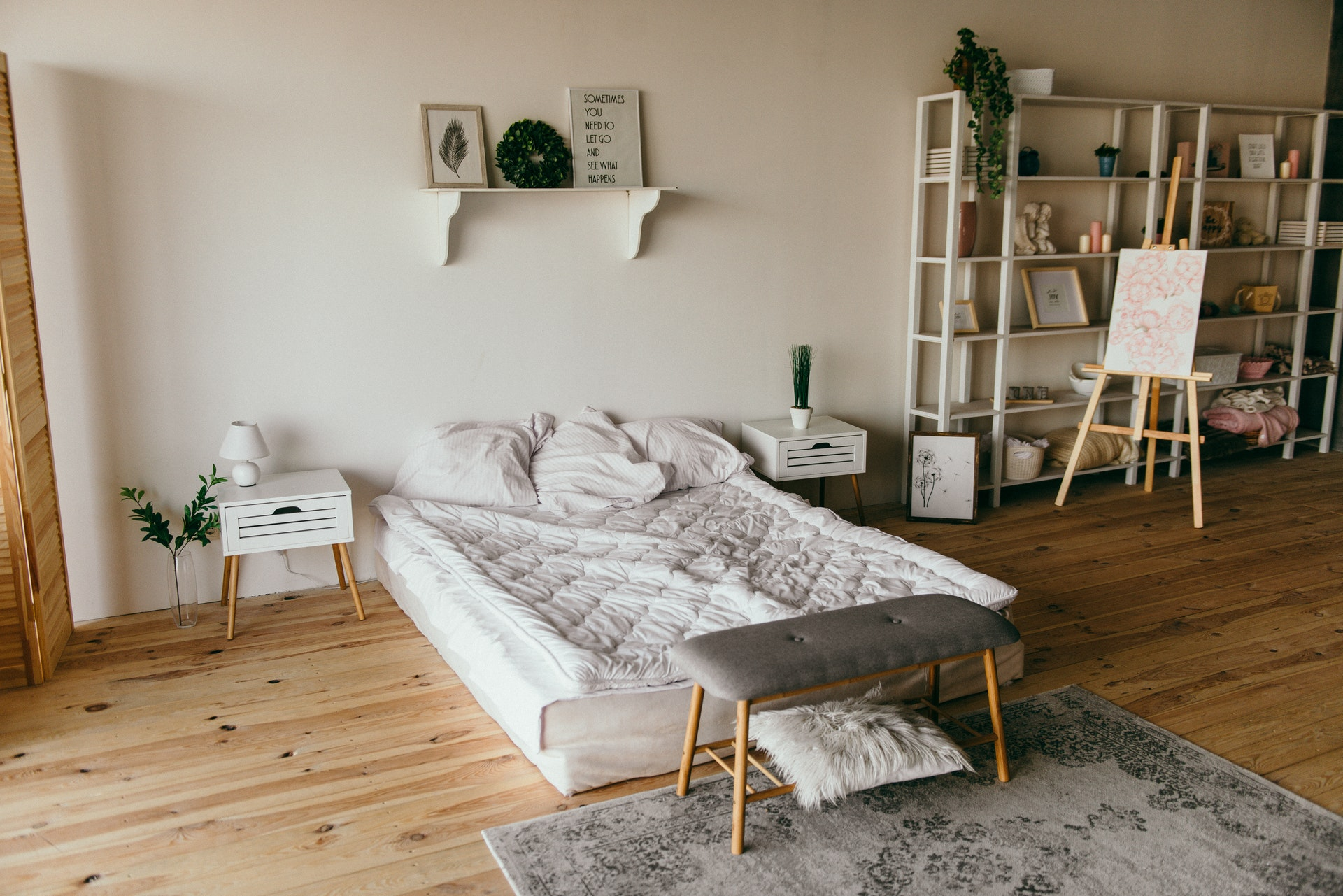 Yatak odası zemin ve iç mekan tasarımı